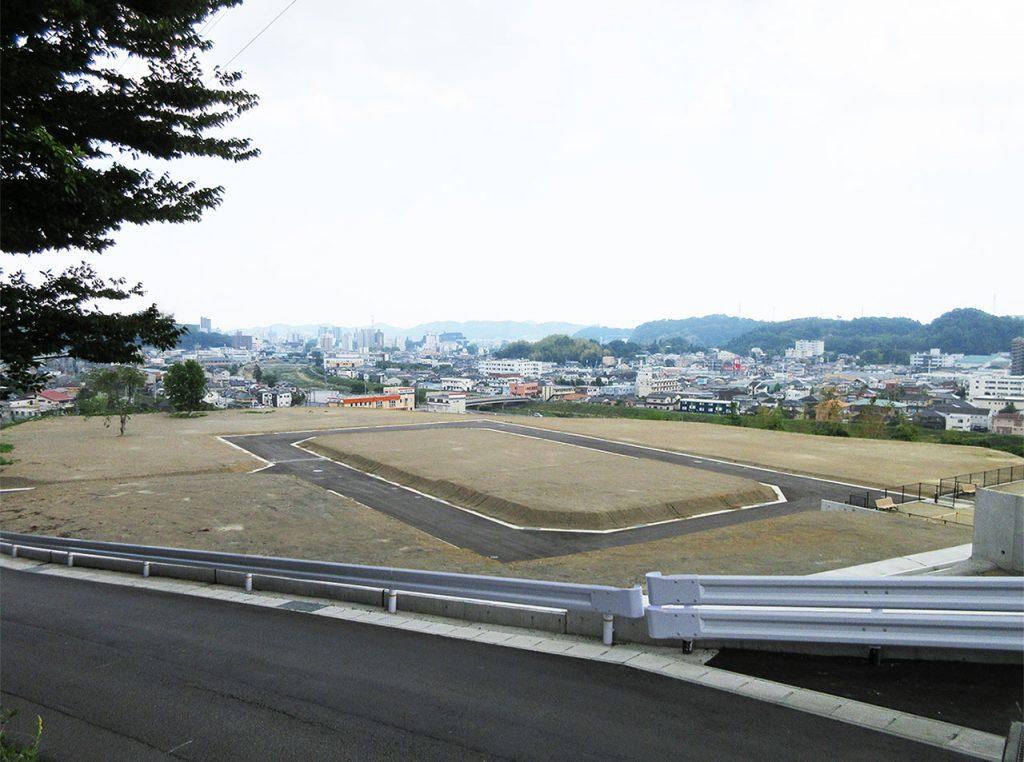 内郷・平市街を一望する宅地開発